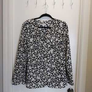 Croft & Barrow Heart Blouse